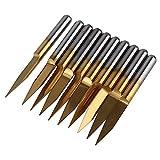 Weone Ersatz 0.2mm Klingen titannitriert 3, 175 Hartmetall