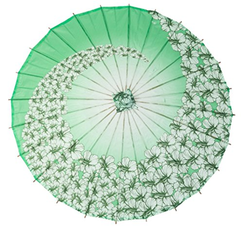 SROVFIDY Chinesische Papier Sonnenschirm Bambus klassische Regenschirm Tanzen Regenschirm - Peach (Sakura)