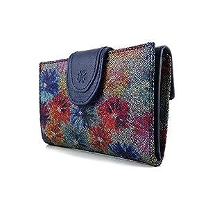 Geldbörse Damen, Handmade Spanien, Portemonnaie Damen, Casanova, Gemacht Aus Haut, Ref. 25114 Blau