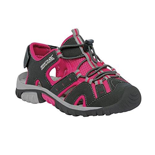 Regatta Deckside Jnr, Chaussures de Running Compétition Fille Iron / Jem
