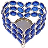 ITOS365 Handmade Tea Light Candle Holder Blue Heart Diya For Home Décor