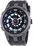 Perrelet Turbine Paranoia Men's Automatic Watch with Black Dial Analogue Display and Black Rubber Strap 4024/1