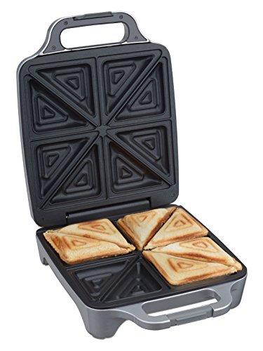 Cloer 6269 Sandwichmaker XXL / 1800 W / für 4 Sandwiches / American Toast / XXL-Füllung / optische Fertigmeldung