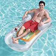 GT Inflatable Floating Row Floating Bed Water Cushion with Drink Holders Hammock Lounge Inflatable Rafts Swimm