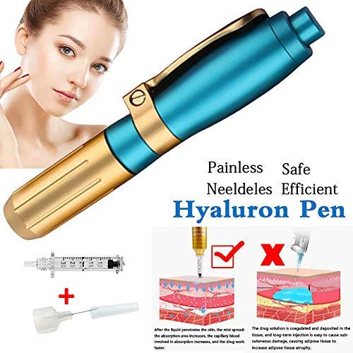 Hyaluronic Injector Pen Hyaluronsäure Mikroinjektor Nadelfrei Anti-Falten Hyaluron Gewehr Hoher Druck Acid Waffen Wasser Spritze Haut Verjüngung (Spritzen Waffen Wasser)