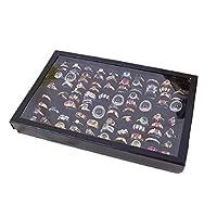Culater®Jewelry Rings Display Tray Velvet 100 Slot Case Box Jewelry Storage Box