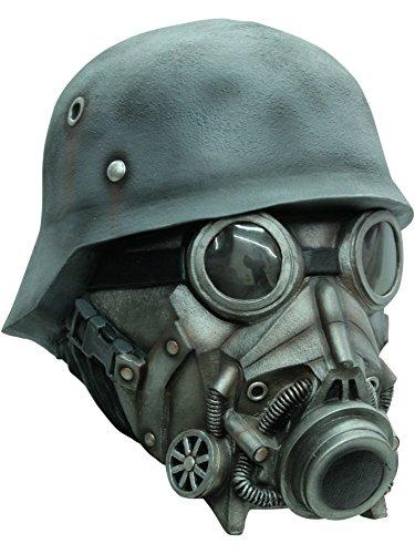 Kostüme Halloween Mit Gasmasken (Soldat mit Gasmaske - Maske für)