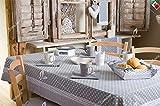 Brotkorb Chic Shabby Country quadratisch cm 20x 20x 7,5–100% Made in Italy–Grau
