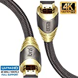 IBRA 0.75M Luxury Câble HDMI Câble très Haute Vitesse 18 GB/s HDMI 2.0b Supporte 4K@60Hz, Fire Fire, Ethernet, Retour Audio, Vidéo UHD 2160p, HD 1080p, 3D, Playstation PS3 PS4 Ordinateur Personnel