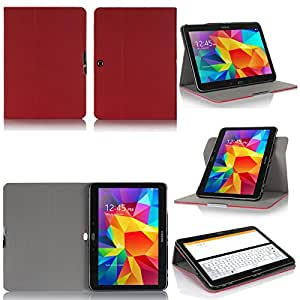 Samsung Galaxy Tab S 10.5 4G/LTE - Housse protection UltimKaz Cuir Style rouge - Etui coque rouge XEPTIO tablette tactile Galaxy Tab S Tablet 10,5 pouces - Accessoires pochette cover XEPTIO case