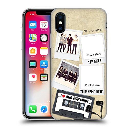 Cover Personalizzata Personale One Direction 1D Harry Crazy Over You Cover Morbida In Gel Per Apple iPhone X Cassetta