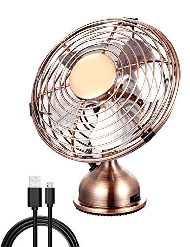 Electroben Ventilador Personal Mini USB Desk, Funcionamiento silencioso, Diseño de Metal, Ventilador...