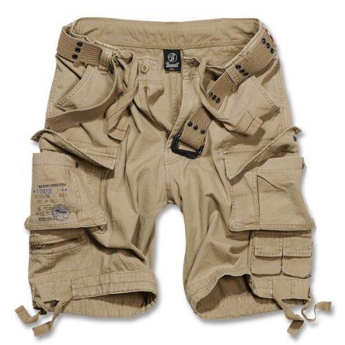 Brandit savage gladiator dauomo cargo pantaloncini corti b-2001 - cotone, sabbia beige, 100% cotone, uomo, 5xl