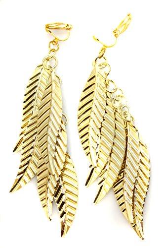Damen-Ohrclips Blätter