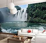 Qthxqa Custom Mural 3D Estéreo Cascada Bosque Cañón Fondo De Pantalla Decoración Entrada Pasillo Sala Tv Telón De Fondo Mural Papel Tapiz-150X120Cm