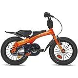 Laufrad SCOOL Rennrad 14 Kinderfahrrad und Laufrad in Einem orange bei Amazon