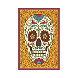 interestprint Mexican Sugar Skull Polyester Garten Flagge Haus Banner 30,5 x 45,7 cm, Tag der Toten Flowral Fahne Deko für Party Yard Home Outdoor Decor
