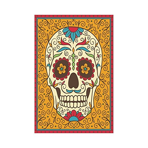 interestprint Mexican Sugar Skull Polyester Garten Flagge Haus Banner 30,5x 45,7cm, Tag der Toten Flowral Fahne Deko für Party Yard Home Outdoor Decor