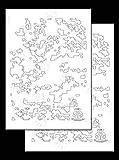 Acid Tactical 2 Packung - Einzige Modelle KLEBSTOFF klebrig Tarnung Airbrush Sprühfarbe Schablonen 35cm - Farbvorlage - DIGITAL CAMO