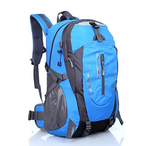 DADZSD wasserdichte Kletterrucksack Rucksack 40L Outdoor Sporttasche Reiserucksack Camping Wandern Rucksack Frauen Trekking Tasche Für Männer-Blau_Höhe 51