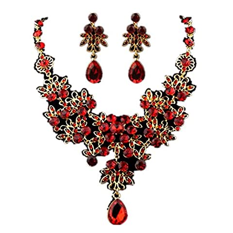erthome Fashion Charm Prom Wedding Bridal Jewelry Crystal Rhinestone Necklace