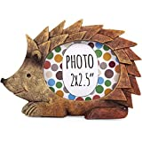 AUTUMN HEDGEHOG - Forest Friends - PHOTO FRAME - Novelty Mini resin Photo Frame - 9.5cm