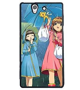 Printvisa Rainy Day With Friends Back Case Cover for Sony Xperia Z::Sony Xperia Z L36h