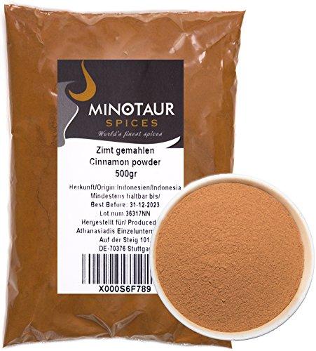 Minotaur Spices | Zimt gemahlen, Zimtpulver mild, 2 X 500g (1 Kg)