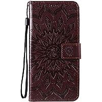 Funda de cuero para Oppo Reno4Pro 5G PU cuero magnético Flip Cover con ranuras para tarjetas Bookstyle Wallet Case para Oppo Reno4Pro 5G - JEKT033157 Marrón