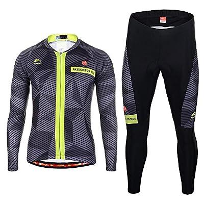XY-QXZB Männer Sweat Breathable Quick Ride Anzug Anzug, Frühling und Herbst Long-Sleeved Bike Anzug