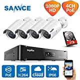 Sannce Überwachungskamera Set, 4CH 1080P POE NVR + - Best Reviews Guide