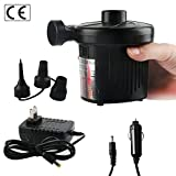 Romote Elektrische Luftpumpe Quick-Fill Pumpe für Outdoor Aufblasbare Luftmatratze Pool-Spielzeug Schwarz