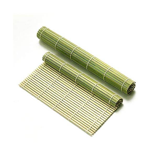 AYRSJCL Rodillo Herramienta Sushi 1pc de bambú del balanceo Mat Onigiri Rice Rodillo del Pollo de la Mano del Fabricante… 4