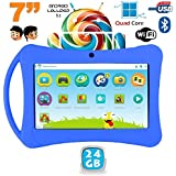 Tablette enfant 7 pouces Android 5.1 Bluetooth Quad Core 24Go Bleu