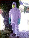 Premium Tuta protettiva mutex 2–Kat III tipo 5B/6B–Protezione contro i virus e batteri..., Bianco