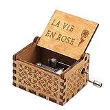 la vie en rose boîte à musique, diy la vie en rose gravé en bois boîte décorative cadeaux de noël