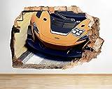 D802giallo auto gratuito strada ragazzi Smashed adesivo 3D Art stickers vinyl Room