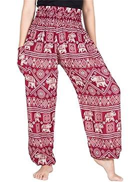 Lofbaz Mujer Floral Impreso Harén Pantalones