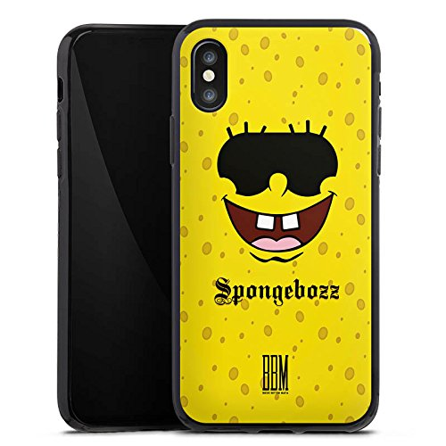 Apple iPhone X Silikon Hülle Case Schutzhülle Spongebozz BBM Fanartikel Merchandise Silikon Case schwarz