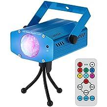 Lixada 10W Mini Disco Lumière DJ Projecteur Eclairage RGB LED Changement de couleur avec télécommande pour Disco KTV Club Party Home Entertainment