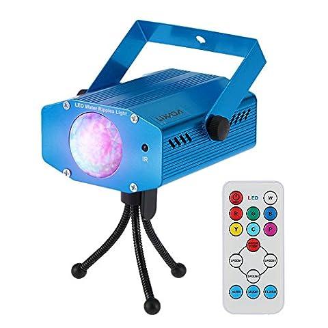 Lixada 9W Farbwechsel Mini LED Wasser Wave Ripple Effect Bühne Licht Lampe mit Controller für Disco KTV Club