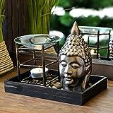 Duftlampe Aromalampe Buddha Kopf Teelichthalter