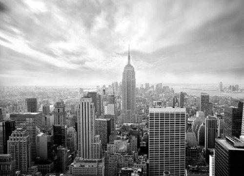 Affiche murale Papier peint Motif SKYLINE de NEW YORK Noir &Blanc Papier peint photo Motif Paysage urbain (254 x 183 cm