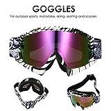 AUDEW Motorrad Goggle Motocross Wind Staubschutz Fliegerbrille Snowboardbrille...