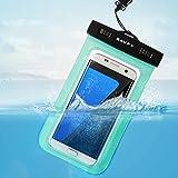 Funda Bolsa Móvil Impermeable, SAVFY® Universal 6 Pulgadas Certificado IPX8 (10m de Profundidad) para iPhone 6S 6 / 6S Plus SE 5S, Samsung Galaxy S6 S7 Nota 5 4, HTC LG Motorola Nokia Sony etc (Verde)