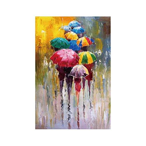 Royalr Las Personas con Paraguas de Dibujo Aceite Cuadros de la Pared Acuarela Arte de la Lona Poster Impreso sin Marco hogar decoración de la Oficina