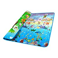Brand New Doulble-Site Baby Play Mat 2*1.8 Ocean And Zoo Child Outdoor Game Blanket Baby Crawling