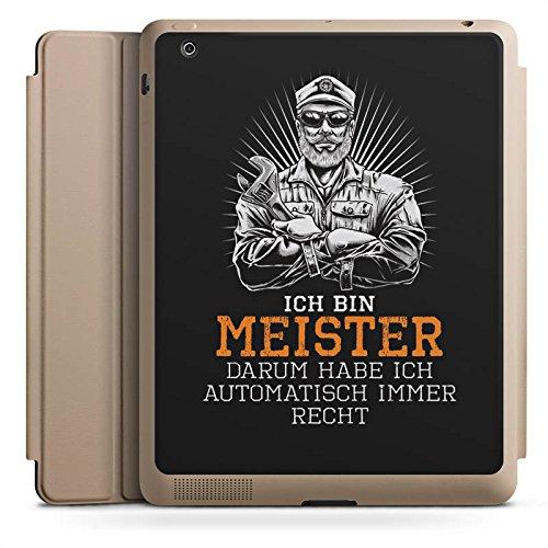 DeinDesign Apple iPad 2 Smart Case Sand Hülle mit Ständer Schutzhülle Meister Spruch Handwerk