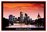 Close Up Frankfurt am Main Poster (63,5x94 cm) gerahmt in: