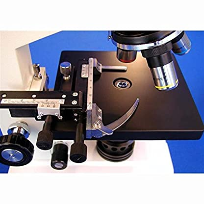 AmScope 40X-2000X Biological Binocular Compound Microscope with Mechanical Stage